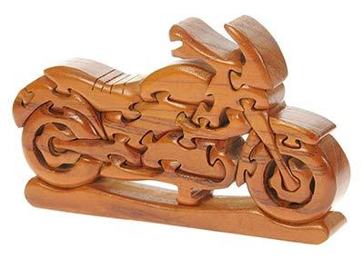 3D Holzpuzzle Motorrad