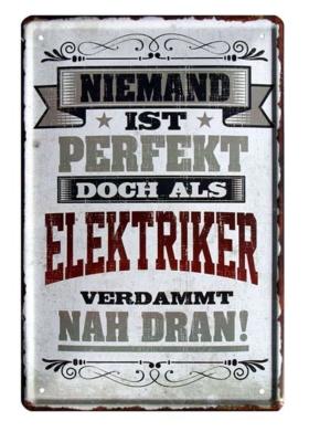 Blechschild für Elektriker