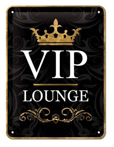 Blechschild VIP-Lounge