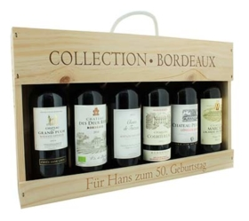 Bordeaux Weinbox mit Gravur
