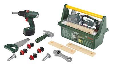 Bosch Kinder-Werkzeugkasten mit Akkuschrauber