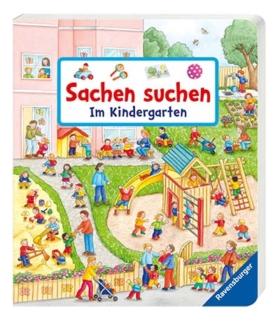 Buch Sachen suchen im Kindergarten