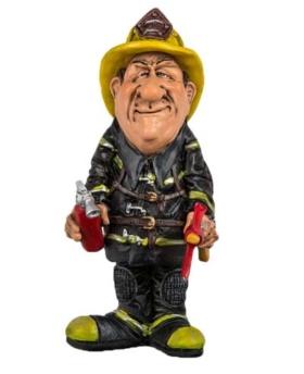 Comicfigur Feuerwehrmann