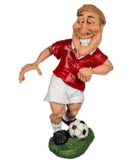Comicfigur Fußballer