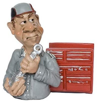 Comicfigur Kfz-Mechaniker