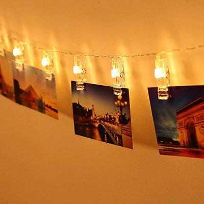 Deko Geschenke Foto Lichterkette
