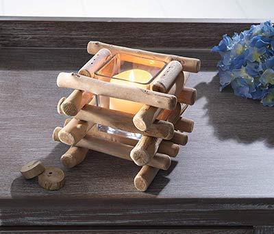 Deko Geschenke Windlicht aus Holz