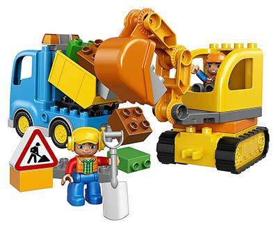 Duplo Bagger und Lastwagen