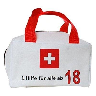 Erste Hilfe Tasche zum 18. Geburtstag