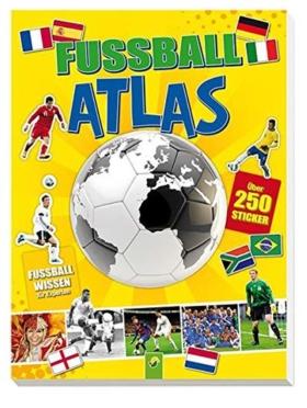 Fußball-Atlas mit Stickern & Fußballwissen