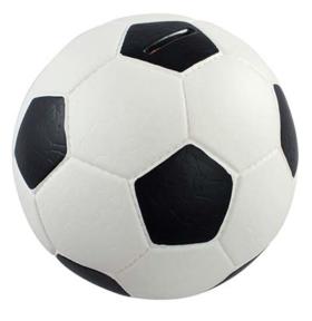 Fußball-Spardose mit Leder-Optik