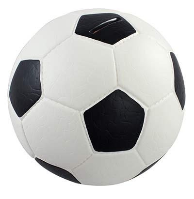 Fußball Spardose mit Echtleder-Optik