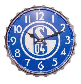 FC Schalke 04 Wanduhr im Vintage Look