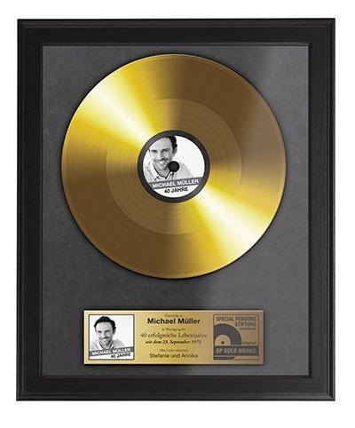 Geburtstag Goldene Schallplatte mit Namen