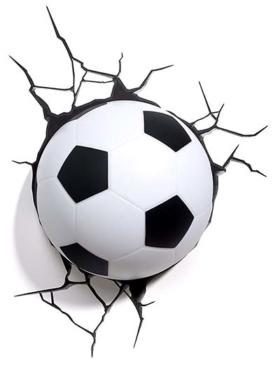 Fußball-Wandleuchte