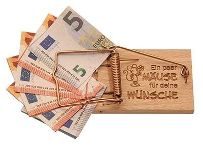 Geldgeschenke Mausefalle