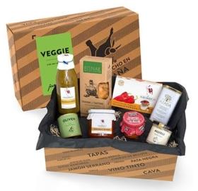 Vegetarische Geschenkbox mit spanischen Köstlichkeiten