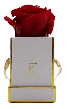 Rosenbox mit Grußkarte