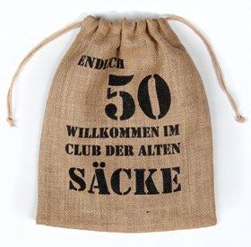 Alter Sack 50 Jahre Geschenkverpackung