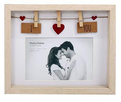 Geschenke für Verliebte Wäscheleine Fotorahmen