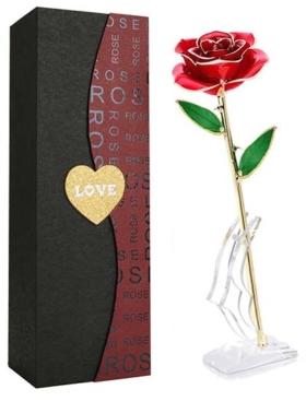 Geschenke zum Einjährigen vergoldete Rose