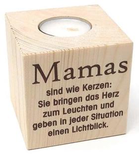 Geschenke zum Muttertag Teelichthalter für Mama