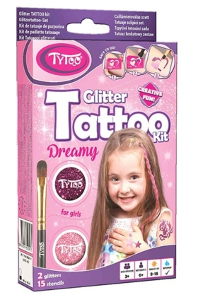 Glitzer-Tattoo-Set