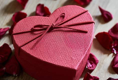 Herzförmige Geschenke