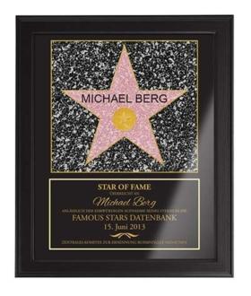 Hollywood-Stern mit Namen
