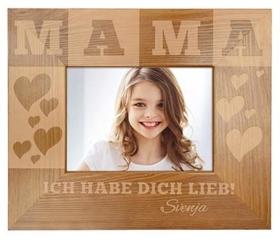Holz-Fotorahmen für Mama