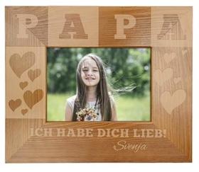 Holz-Fotorahmen für Papa