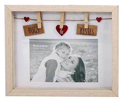 Holz-Fotorahmen Hugs and Kisses
