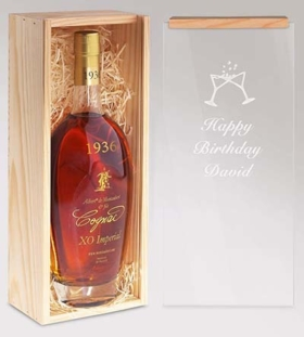 Jahrgangs-Cognac mit Gravur