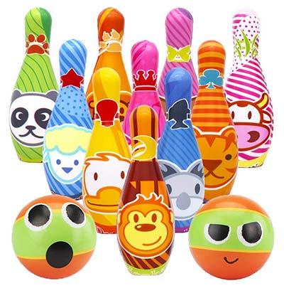 Spielzeug für draußen Kegelspiel aus Schaumstoff