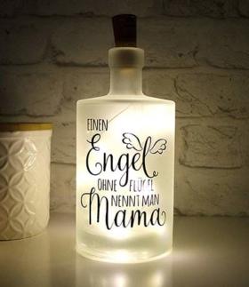 Leuchtflasche für Mama