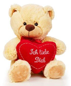 Teddybär mit Liebesherz