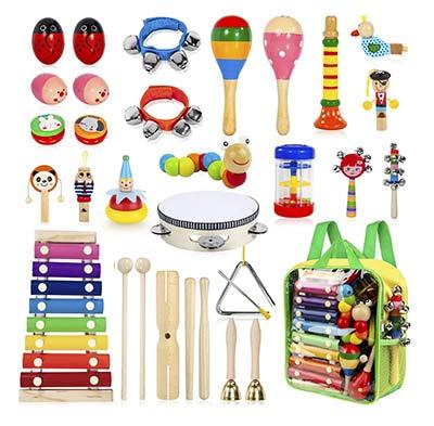 Musikinstrumente-Set für Dreijährige