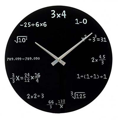 Nerd Geschenke Mathematik Wanduhr