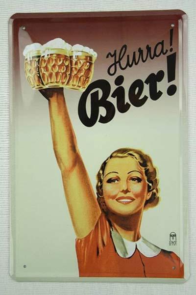 Nostalgisches Bier-Blechschild