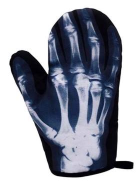 Ofenhandschuh mit Röntgenbild