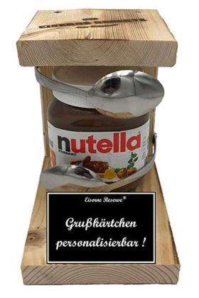 Personalisierte Geschenke eiserne Reserve Nutella