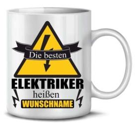 Personalisierte Tasse für Elektriker