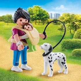 Playmobil Mutter mit Baby und Hund