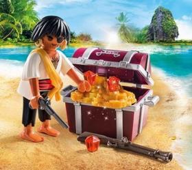 Playmobil Pirat mit Schatztruhe