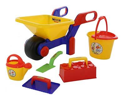 Gartenspielzeug für dreijähirge Kinder Sandkasten Baustellen-Set