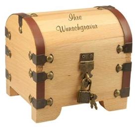 Schatztruhe Geschenkbox mit Gravur