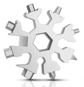 Schneeflocken Multitool Schlüsselanhänger