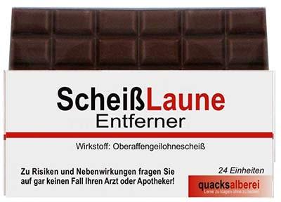 Schokolade Scheißlaune Entferner
