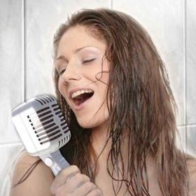 Duschkopf-Mikrofon im Retrostyle
