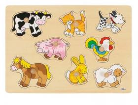 Steckpuzzle mit Tieren vom Bauernhof
